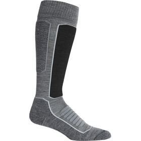 Icebreaker Ski+ Medium OTC Socks Dame Gritstone Heather/Black